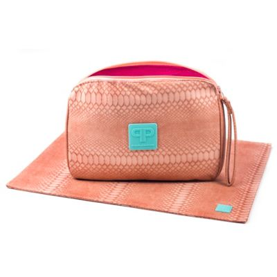 Posh Play Diaper Pad and Clutch Combo in Grapefruit