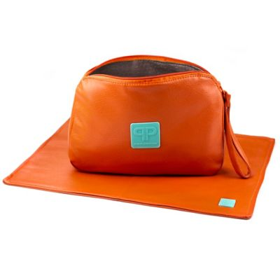 Posh Play Diaper Pad and Clutch Combo in Orange