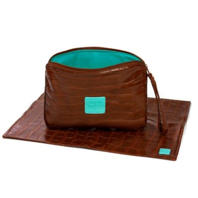 Posh Play Diaper Pad and Clutch Combo in Chocolate