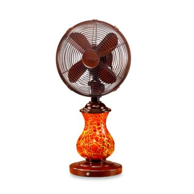 Deco Breeze® Rustic Crackle Table Fan and Lamp
