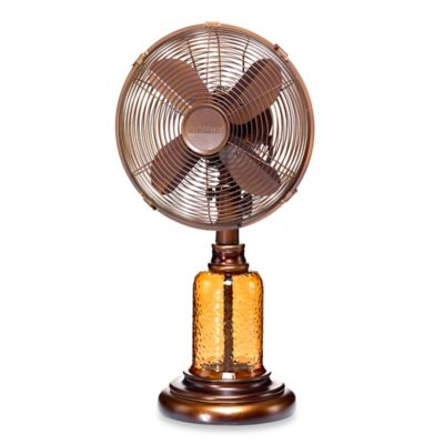 Deco Breeze® Amber Glass Table Fan