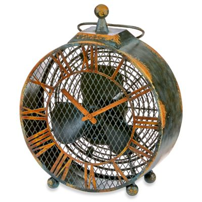 Deco Breeze® Antique Clock Figurine Table Fan