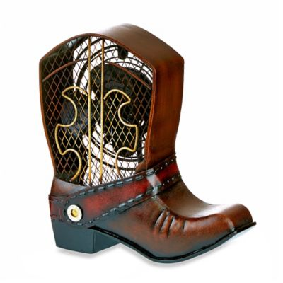 Deco Breeze® Cowboy Boot Figurine Table Fan