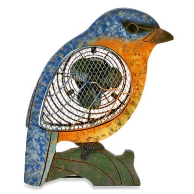 Deco Breeze® Bluebird Figurine Table Fan