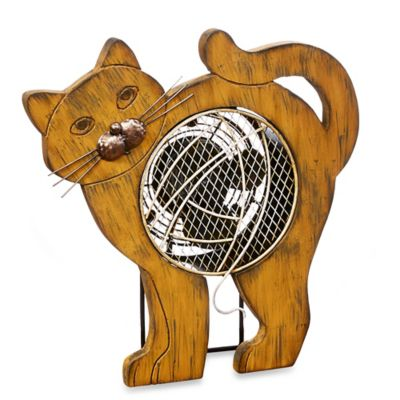 Cat Figurine Table Fan