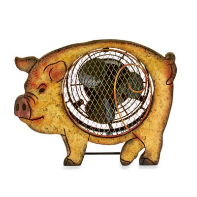Deco Breeze® Pig Figurine Table Fan