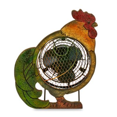 Deco Breeze® Rooster Figurine Table Fan