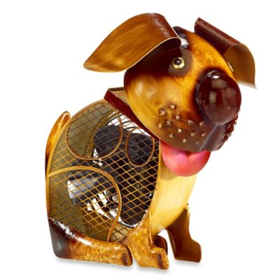 Deco Breeze® Country Dog Figurine Table Fan