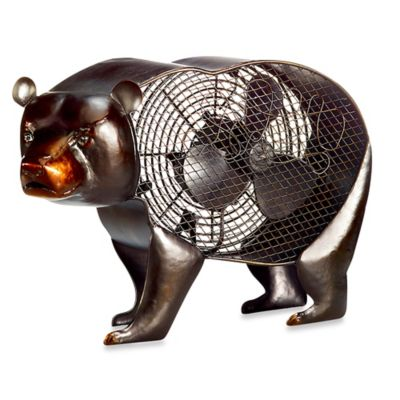 Deco Breeze® Black Bear Figurine Table Fan