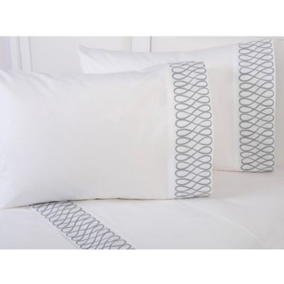 COCOCOZY™ Grey Loop Standard Pillowcase in White/Grey