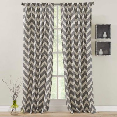 Zigami 108-Inch Rod Pocket Back Tab Window Curtain Panel in Grey