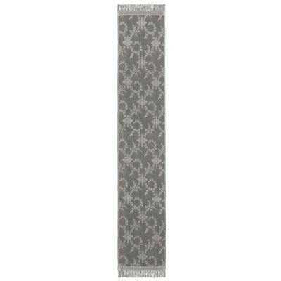 Downton Abbey® Yorkshire Collection Lace 96-Inch x 20-Inch Table Runner in Flax