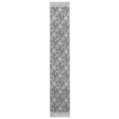 Downton Abbey® Yorkshire Collection Lace 96-Inch x 20-Inch Table Runner in White