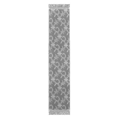 Downton Abbey® Yorkshire Collection Lace 84-Inch x 20-Inch Table Runner in White