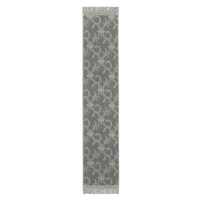 Downton Abbey® Yorkshire Collection Lace 84-Inch x 20-Inch Table Runner in Flax