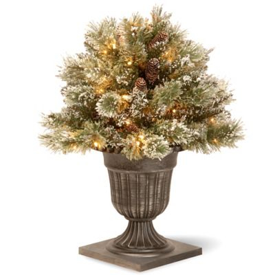 National Tree 26-Inch Pre-Lit Glittery Bristle Pine Porch Bush