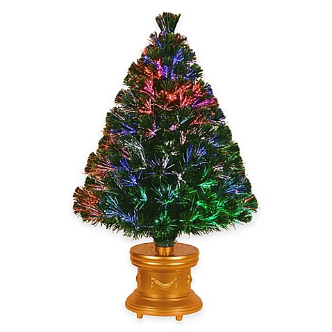 Christmas Tree With Multicolor Lights
