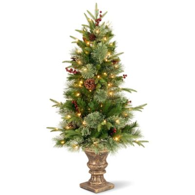 "National Tree ""Feel Real"" 4-Foot Colonial Entrance Tree with 100 Clear Lights"