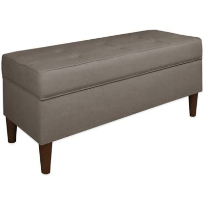 Skyline Furniture Storage Bench in Graphite