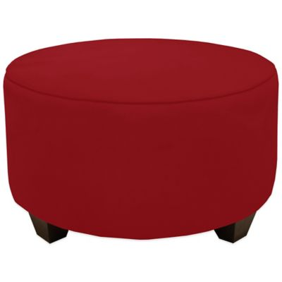 Skyline Furniture Round Ottoman in Premier Lazuli Blue