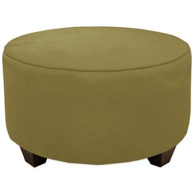 Skyline Furniture Round Ottoman in Premier Sage