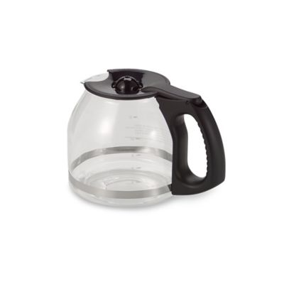 Mr. Coffee® 12-Cup Replacement Decanter with Ergonomic Handle in Black