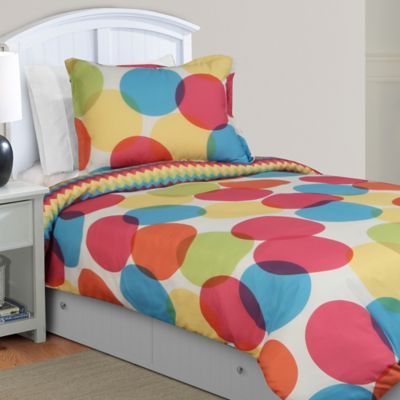 Orange Blue and Yellow Bedding