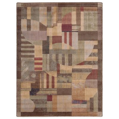 Nourison Brown Green Room Rug
