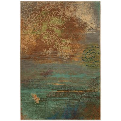 Karastan Artois Avion 2-Foot 11-Inch x 4-Foot 8-Inch Rug in Teal