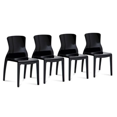 Domitalia Crystal Dining Chair in Clear (Set of 4)