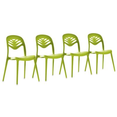 Domitalia ForYou2 Dining Chair in Green (Set of 4)