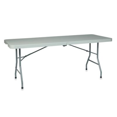 Office Star Products 6 Resin Multi-Purpose Center Fold Table with Wheels