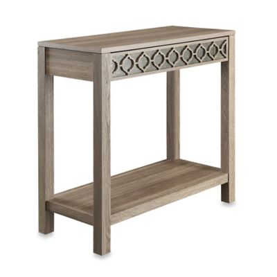 Office Star Products Helena Foyer Table with Mirror Accent Panel
