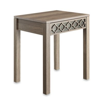 Office Star Products Helena End Table with Mirror Accent Panel