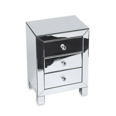 Office Star Products Reflections 3-Drawer Accent Table
