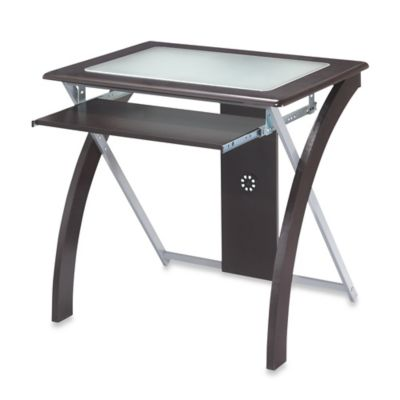 Office Star Products Computer Desk with Frosted Glass