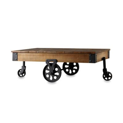 Verona Home Parkway Cocktail Table with Black Sanded Metal