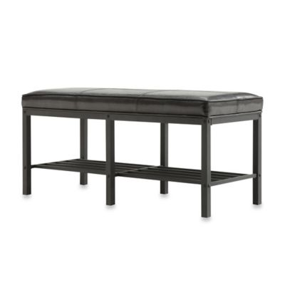 Verona Home Parkway Bench in Brown