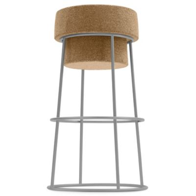 Domitalia Bouchon Cork Counter Stool in Aluminum