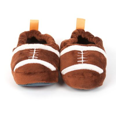 Skidders® Size 2T Football Comfort Slippers in Brown