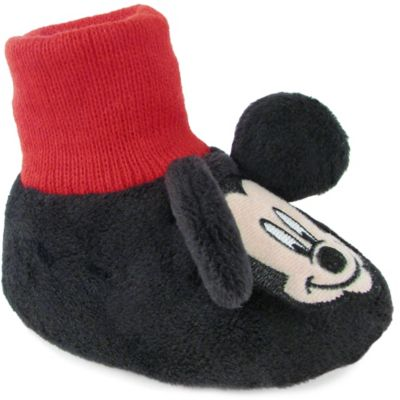 Mickey Mouse Size 9-12M Sock Top Slipper