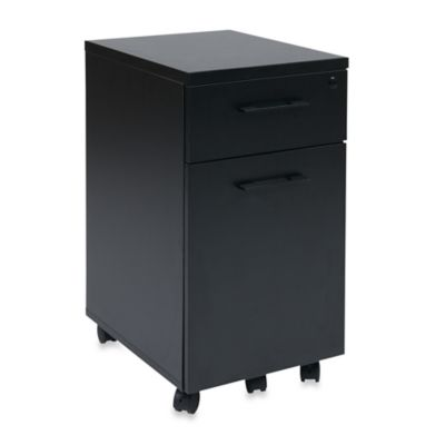 Office Star Products Prado Mobile Filing Cabinet with Hidden Drawer and Castors in White