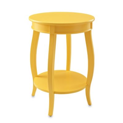 Powell Round Table with Shelf in Yellow