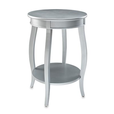 Powell Round Table with Shelf in Silver