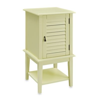 Powell Shutter Door Table in Buttercup Yellow