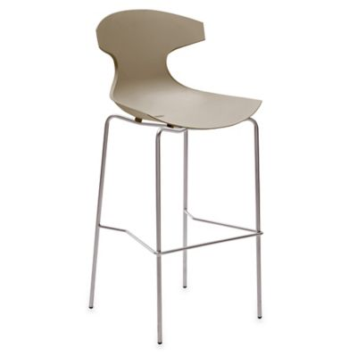 Domitalia Echo Barstool in Taupe