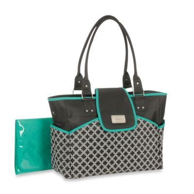 Carter's® Geo Fashion Flap Tote in Pebble Grey