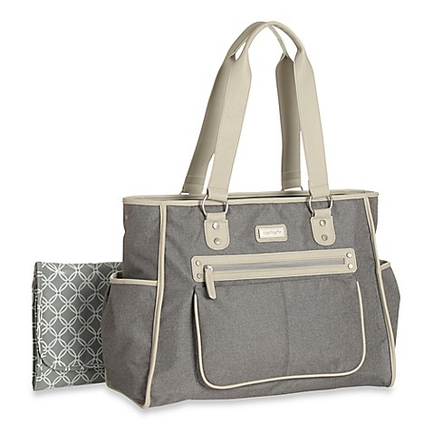 carter 39 s essence diaper bag in grey bed bath beyond. Black Bedroom Furniture Sets. Home Design Ideas