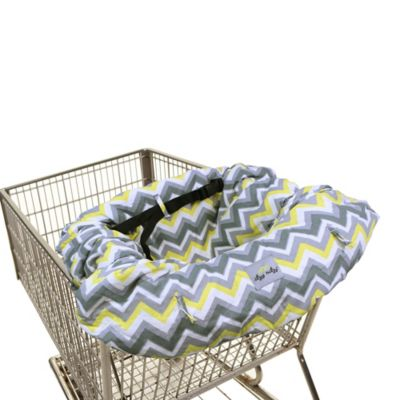 Itzy Ritzy® Ritzy Sitzy™ Shopping Cart and High Chair Cover in Sunshine Chevron
