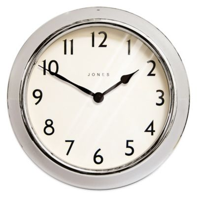 Jones® Clocks Ambassador 12-Inch Wall Clock in Chrome